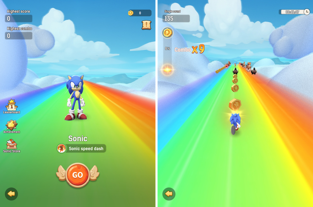 Ulala: Idle Adventure x Sonic the Hedgehog collaboration event