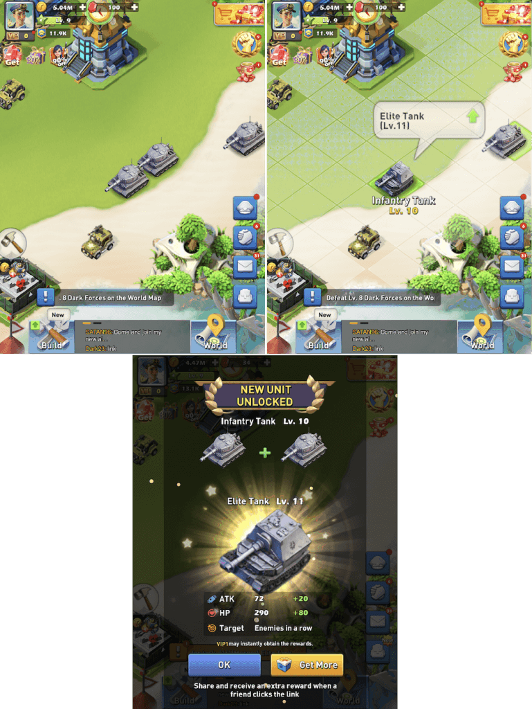 Top War: Battle Game Training the troops by merging