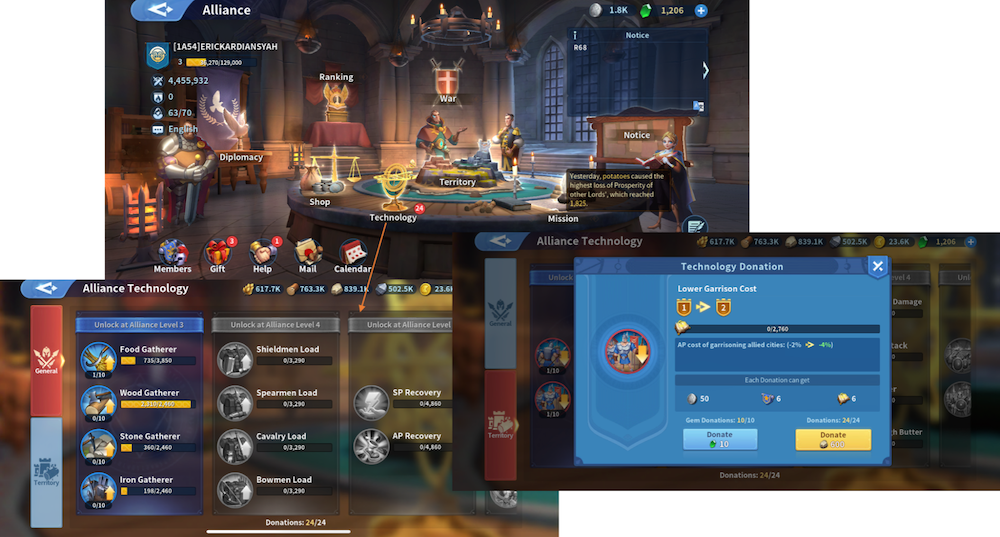 Guild mechanics in mobile games