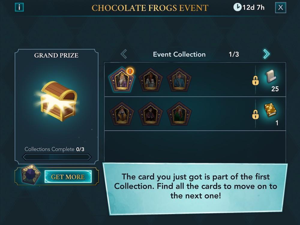 Harry Potter: Hogwarts Mystery's collection system