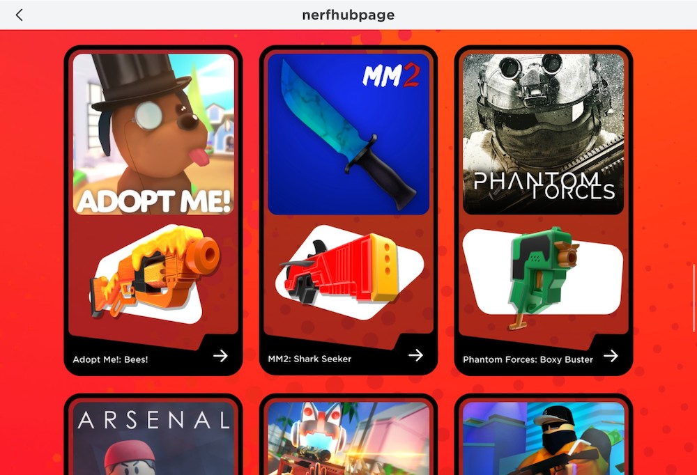 Roblox x Nerf collaboration event