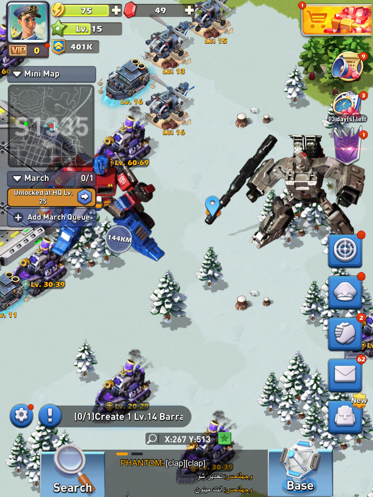 Top War: Battle Game x Transformers collaboration event