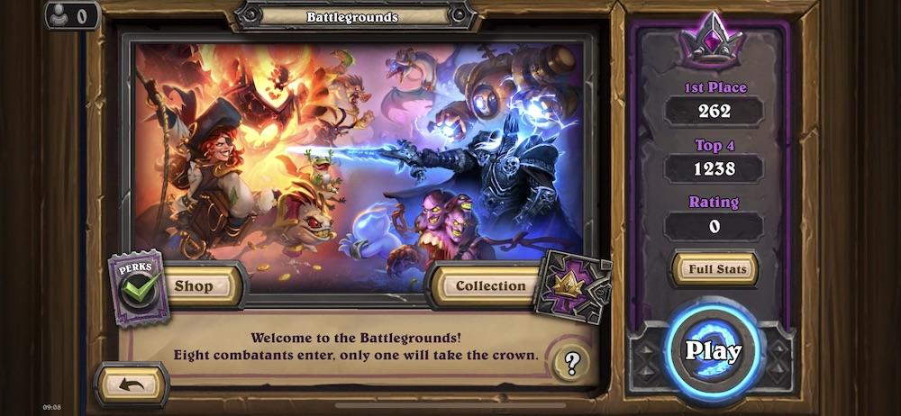 Hearthstone's Battlegrounds mode