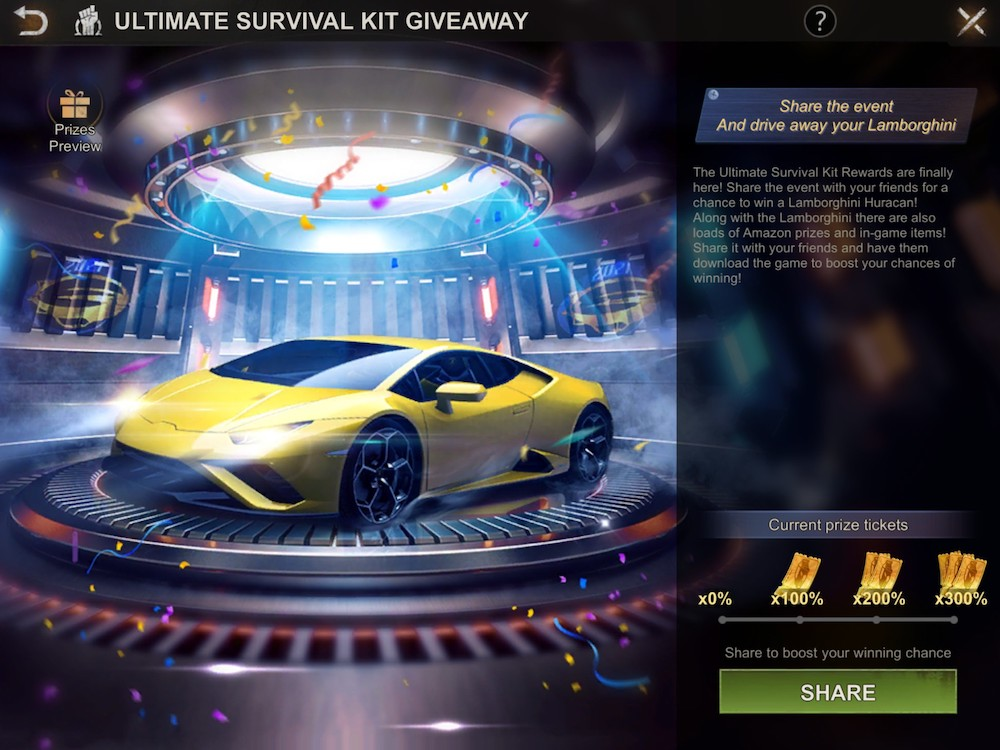 State of Survival is giving players a chance to win an actual Lamborghini in honor of the 2nd anniversary of the game